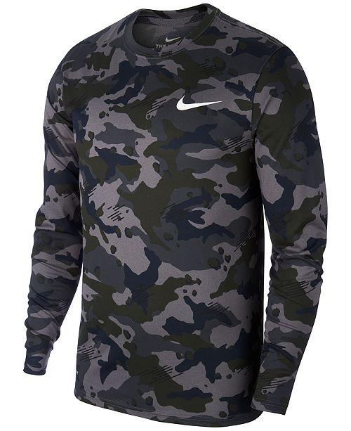 fd04b3c0883cbc Nike Men's Dry Camo-Print Training Shirt & Reviews - T-Shirts - Men ...