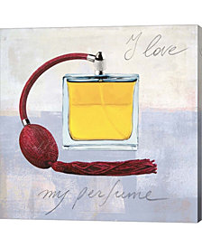 I Love my Perfume by Michelle Clair Canvas Art
