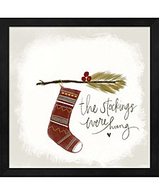 The Stockings Were H By Katie Doucette Framed Art