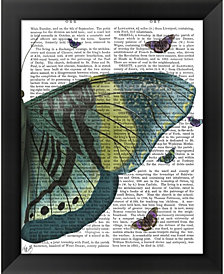Butterfly in Turquob by Fab Funky Framed Art