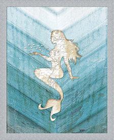 Coastal Mermaid II by Jennifer Pugh Framed Art