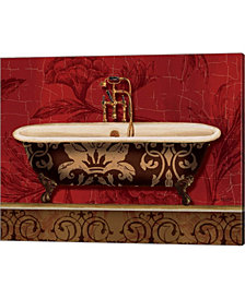 Royal Red Bath I by Lisa Audit Canvas Art