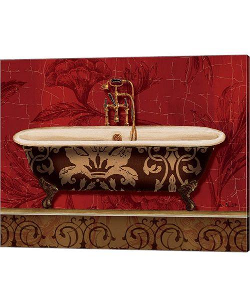 Metaverse Royal Red Bath I By Lisa Audit Canvas Art