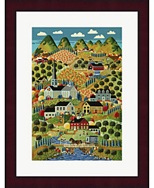 Country Town By Anthony Kleem Framed Art