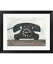 Phoning II By Sam Dixon Framed Art