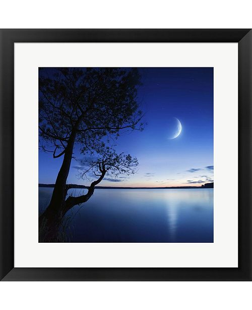 Metaverse Silhouette Of A Lone By Evgeny Kuklev/Stocktrek Images Framed Art