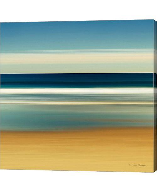 Metaverse Sea Stripes II By Katherine Gendreau Canvas Art