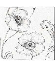 Blossom Sketches I By Daphne Brissonnet Canvas Art