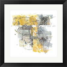 Moving In And Out Of Traffic Ii Yellow Grey By Mike Schick Framed Art