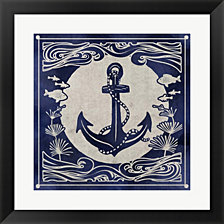 Ink Anchor by Edward Selkirk Framed Art