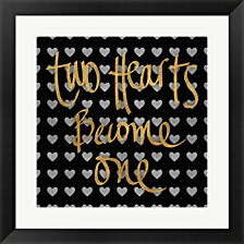 Two Hearts Become One Pattern by SD Graphics Studio Framed Art