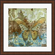 Rustic Butterfly II by Jennifer Goldberger Framed Art