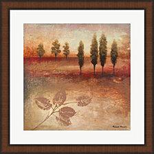 Warm Textural Landscape II by Michael Marcon Framed Art
