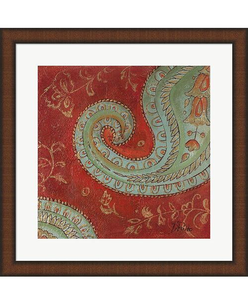Metaverse Paisley Wave Ii By Patricia Pinto Framed Art