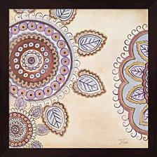 Lavender Textiles I By Patricia Pinto Framed Art