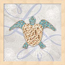 Sea Side Gypsy - Turtle By Lightboxjournal Framed Art
