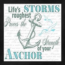 Sailor Away Sign 2 By Lightboxjournal Framed Art