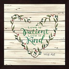 Love Is Patient Heart Wreath By Cindy Jacobs Framed Art