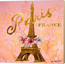 Gold Paris Eiffel by Janice Gaynor Canvas Art