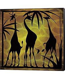 Safari Silhouette 3 by Gena Rivas-Velazquez Canvas Art