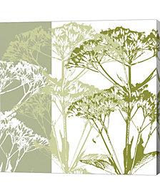 Delicate Greens by Erin Clark Canvas Art