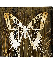 Butterflies Leaves by Erin Clark Canvas Art