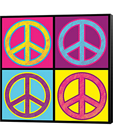 Peace Colorful By Louise Carey Canvas Art