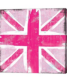 Union Jack Pink By Louise Carey Canvas Art