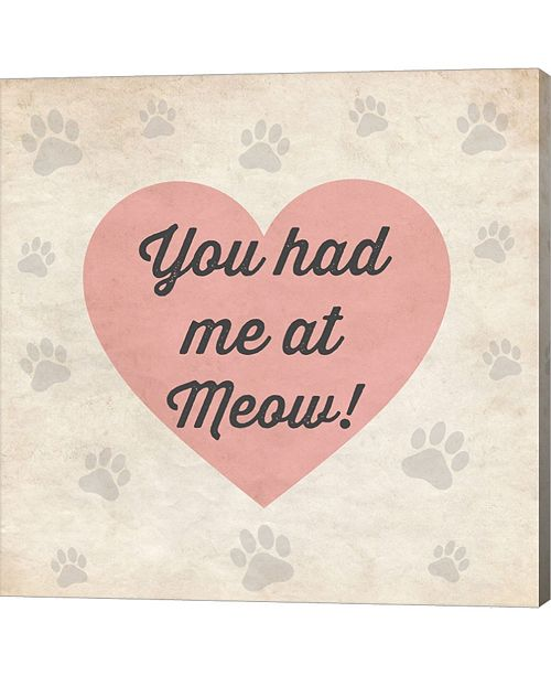 Metaverse You Had Me At Meow! By Louise Carey Canvas Art