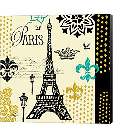 Paris Architecture 2 By Rebecca Lyon Canvas Art