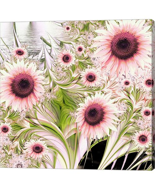 Metaverse Water Sunflowers By Mindy Sommers Canvas Art