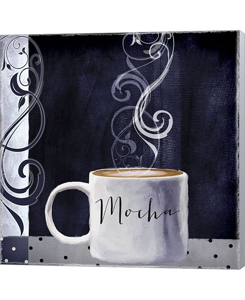 Metaverse Cafe Blue III By Color Bakery Canvas Art