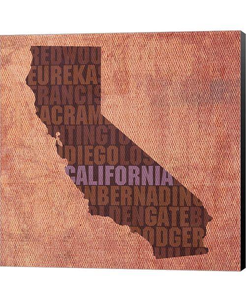 Metaverse California State Wor By David Bowman Canvas Art