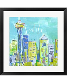Seattle By Pamela J. Wingard Framed Art