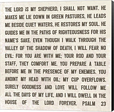 The Lord is My Shepherd by Lauren Rader Canvas Art