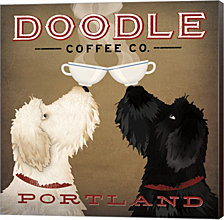 Doodle Coffee Double IV Portland by Ryan Fowler Canvas Art