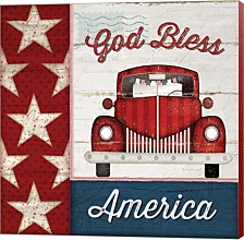 God Bless America By Jennifer Pugh Canvas Art