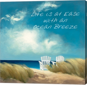 A Perfect Day Ocean Breeze By Julia Purinton Canvas Art