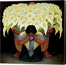 El Vendedor De Alcatraces By Diego Rivera Canvas Art