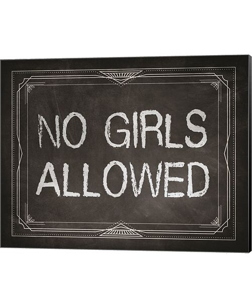 Metaverse No Girls Allowed Chalkboard Background By Color Me Happy Canvas Art