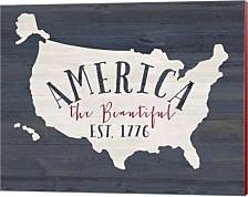 America The Beautiful By Jo Moulton Canvas Art