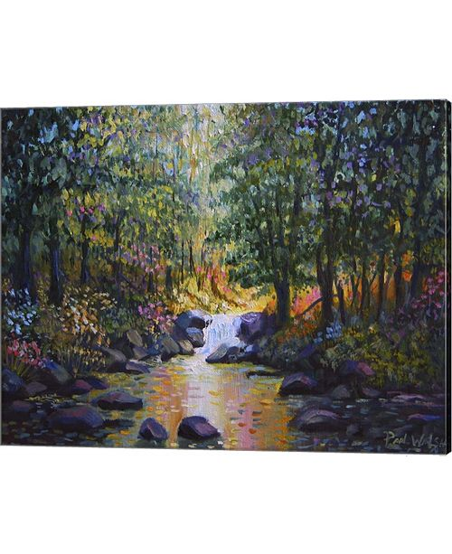 Metaverse Wooded Stream By Paul Walsh Canvas Art