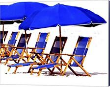 Beach Chairs Ii By Karen J. Williams Canvas Art