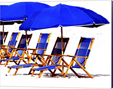 Beach Chairs II by Karen J. Williams Canvas Art