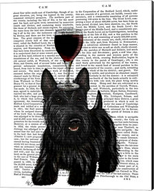 Dog Au Vin, Scottish Terrier by Fab Funky Canvas Art