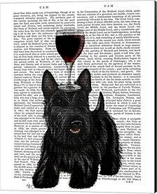 Dog Au Vin, Scottish Terrier By Fab Funky Canvas Art