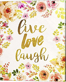 Live Love Laugh By Natasha Wescoat Canvas Art