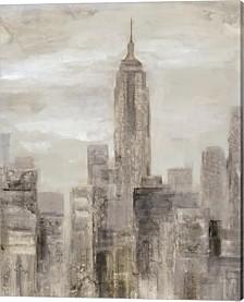 City Blocks Ii Greige By Silvia Vassileva Canvas Art