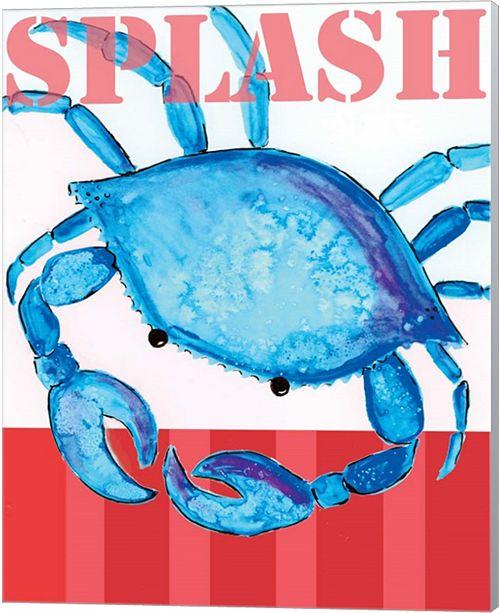 Metaverse Splash Crab 2 By Anne Seay Canvas Art