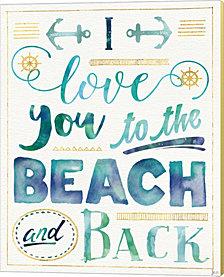 Coastal Words I By Jess Aiken Canvas Art